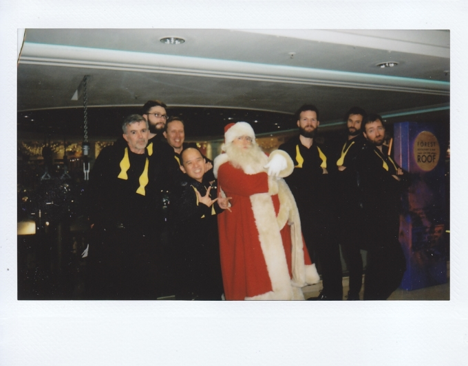 Hanging' with Santa at Selfridges.