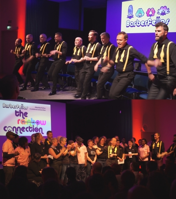 The Barberfellas present the Rainbow Connection at Amnesty International
