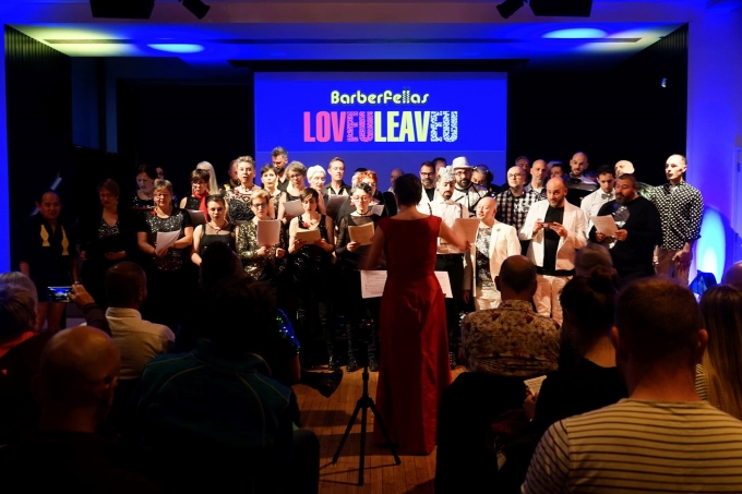 The Barbies share the stage with Melodivas and Komos at the LovEU LeavEU concert