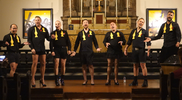 The Barbies singing at St John's Bethnal Green for World AIDS Day 2019'